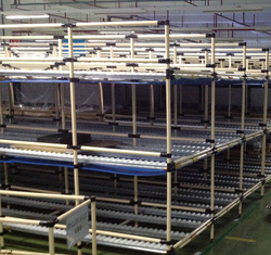 Wipl PE Coated Steel Pipe Storage Racks And Roller Track Support