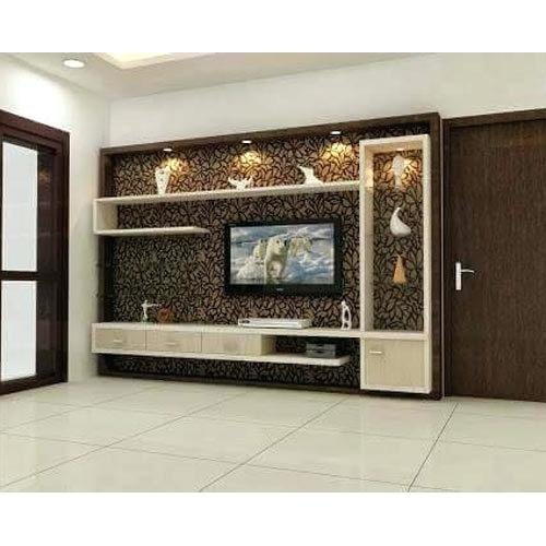 Plywood Wall Cabinet Plan: Plywood Wall Mounted TV Cabinet, Warranty: 2 Years, Rs