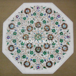 Marble Mother Of Pearl Inlay Table Tops