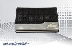 Black Leatherite Steel Card Holder