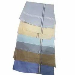 Plain Mens Cotton Multicolor Handkerchief