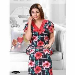 Flower Print Ladies Gown