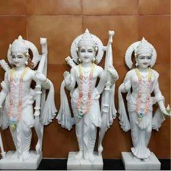Marble Ram Sita and Lakshman Statue