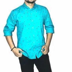 Relive & Regain Mens Printed Casual Satin Shirt, Size: M-XXL