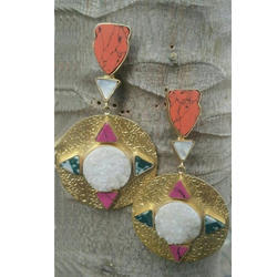 Glass Stone Earrings