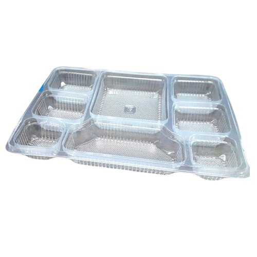 Transparent Pp Material Food Packaging Trays 8 Compartment For Event And Party Supplies Rs 9 5 Piece Id 20880437355