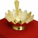 Gold And Silver Lotus Shaped Bowl