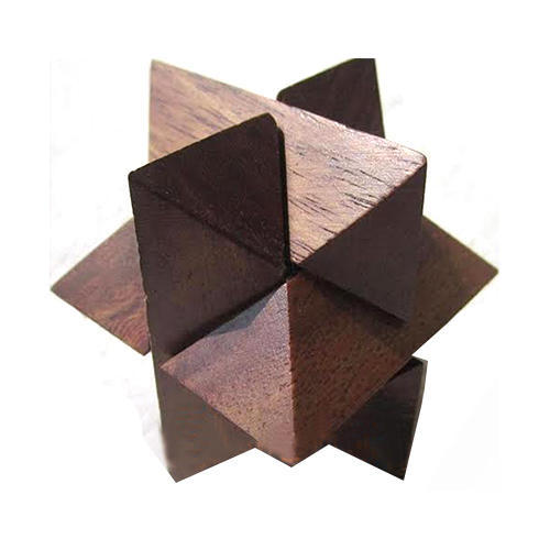 Wood Wooden Star Puzzle