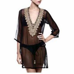 Ladies Net Black Net Dress