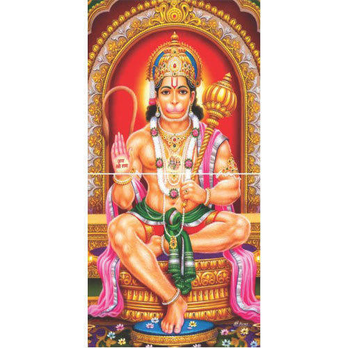 bajrang bali 3d wall tile size 30x30 cm rs 750 square feet id