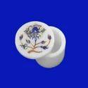 White Marble Inlay Handmade Floral Art Design Box