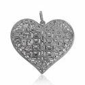 Diamond Baguettes 925 Sterling Silver Pendant