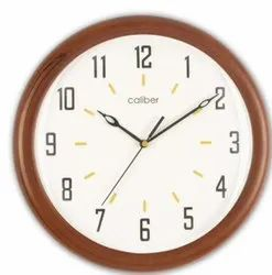 Caliber Brown & White Wall Clock, For Home
