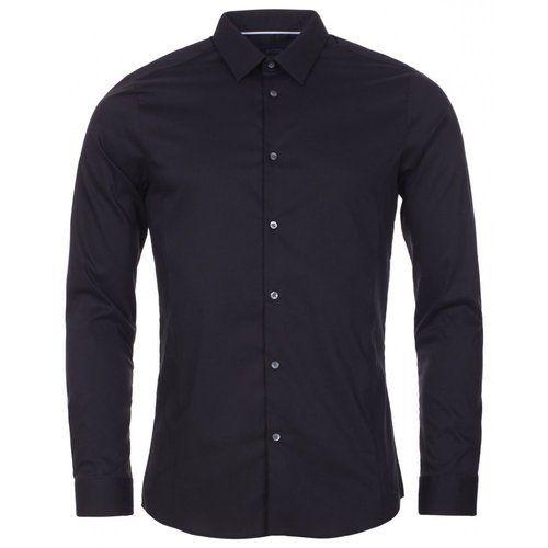a4f66793c0 Mens Full Sleeves Black Plain Shirt, Rs 495 /piece, Spice Fashion ...
