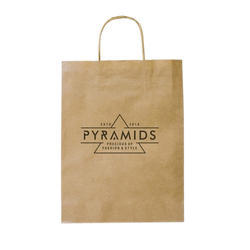 Kraft Paper Brown Printed Paper Bags, Capacity: 1kg