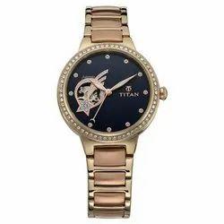 Stellar By Titan Blue Dial Automatic Watch for Women