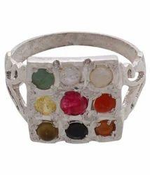 Navratna Silver Ring