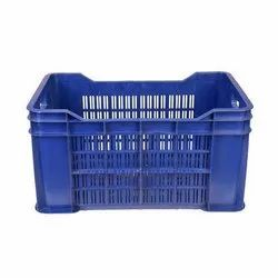 Square Solid Box Perforated Plastic Crates, for Storage, Capacity: 20 Kg