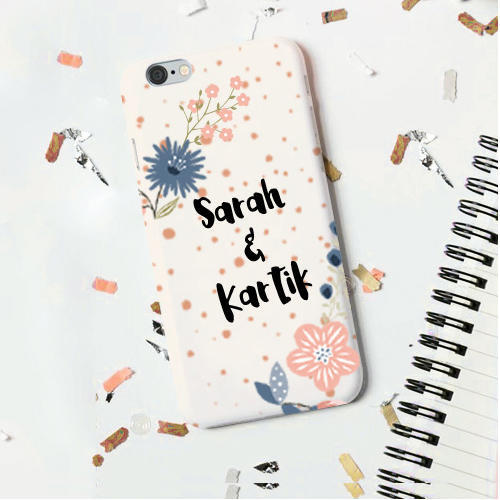 Personalized Phone Cover Printed Couple S Name
