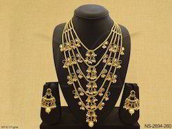 Long Layered Antique Necklace Set Jewellery