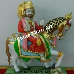 Baba Ramdev White Marble Statue