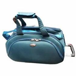 Sangam Enterprises Nylon Blue Duffle Trolley Bag