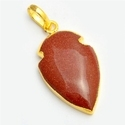 Howlite Gold Electroplated Arrowhead Pendant