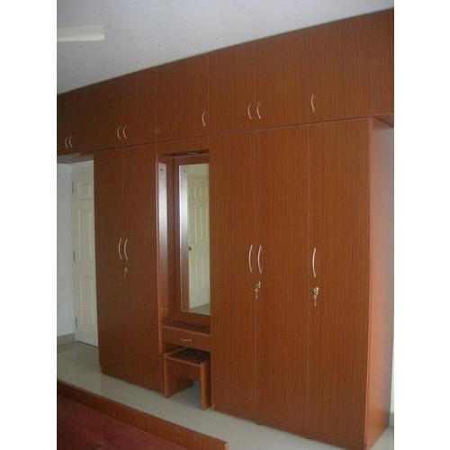 Mdf Brown Modern Wooden Almirah For Bedroom Rs 750 Square Feet