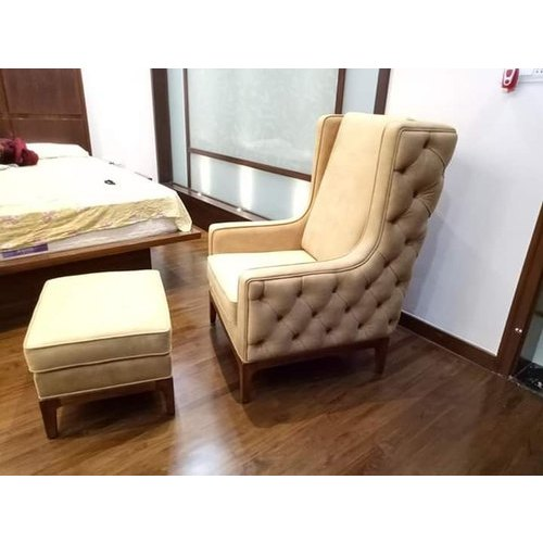 Modern Leather Bedroom Chair With Puff Back Style Tight Back Rs 18000 Set Id 20480784533