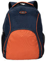 Cosmus Navy Blue - Orange Backpack- Moscow Laptop Backpack