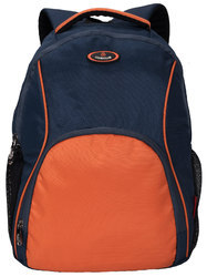 Cosmus Moscow Navy Blue - Orange Laptop Backpack