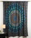 Cotton Mandala Peacock Printed Window Decor Curtain