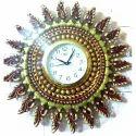 Terracotta Silver Clock