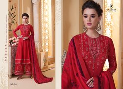 Sarthi Vol 9-Sajawat Party Wear Designer Muslin With Heavy Work  Ready Made Palazzo Suits