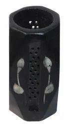 Black Soapstone Pen Holder