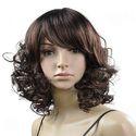 13 Inch Tilted Bangs Shoulder Length Wave Hair