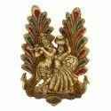 Gold Plated Radha Krishna Meenakari