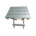 Nakoda Polished Aluminium Folding Stool, For Restaurant