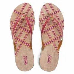 Women Pink PVC Fashion Slippers