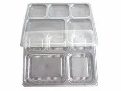 5 Section Meal Tray With Lid
