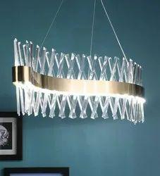 Metal & Crystal Linier LED Chandelier, Model Name/Number: Sl 5215