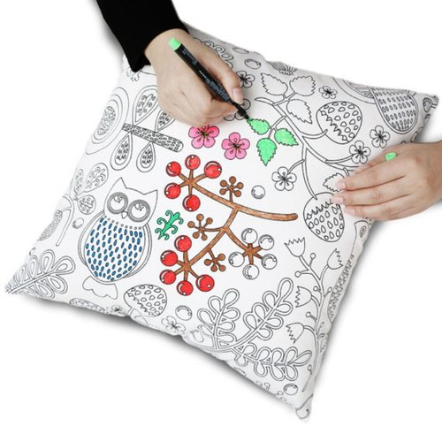 DIY Colouring Cushion Cover Birthday ValentineFriendship Day GiftDecor Self