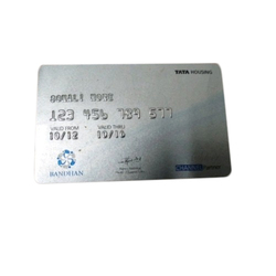 Silver PVC Embossed Card