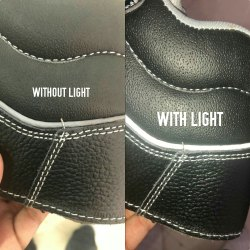 Grey Reflective Piping for Shoe Upper