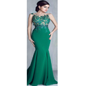 Green Party Ladies Gown
