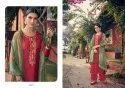 Angroop Plus Emerald Jam Silk Cotton Designer Salwar Kameez