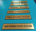 Acrylic Gold And Silver UV Printed Name Plates