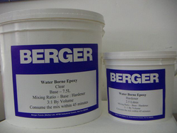 Berger waterborne epoxy clear lacquer paint