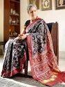 Bollywood Designer Linen Patola Saree