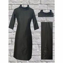 The Signature Attire Plain Multi-Wear Dress With Sequins Neck
